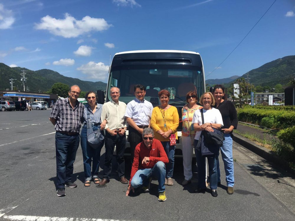 Bus tour in Japan